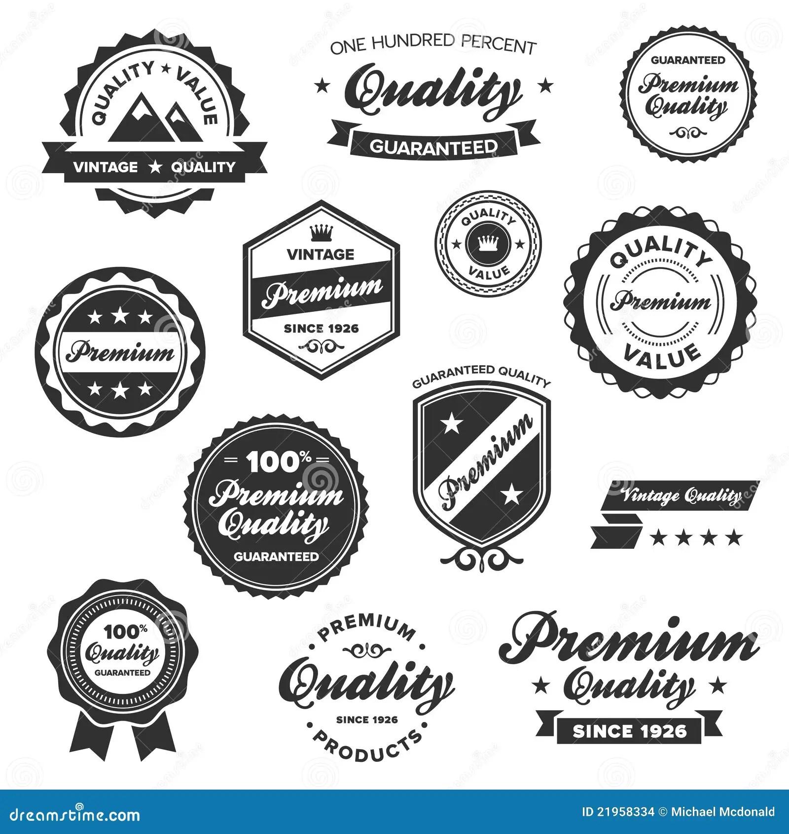 Vintage Premium Badges Stock Vector Illustration Of Best