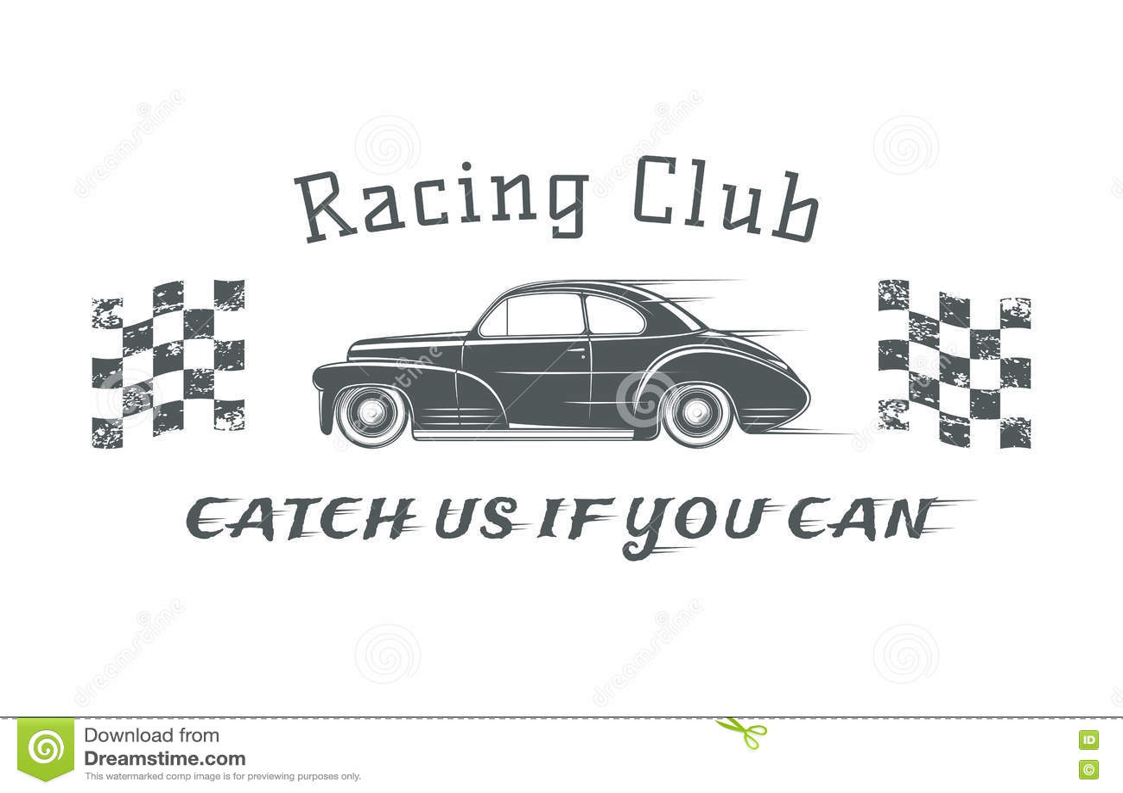 Vintage Racing Club Badge Template Stock Vector