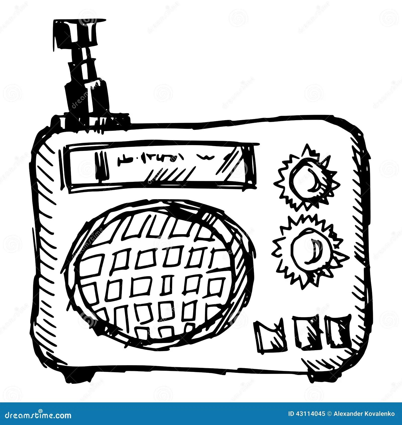 Vintage Radio Stock Vector Illustration Of Electronic