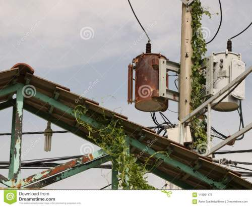 small resolution of vintage rusty distribution transformer electric box on pole
