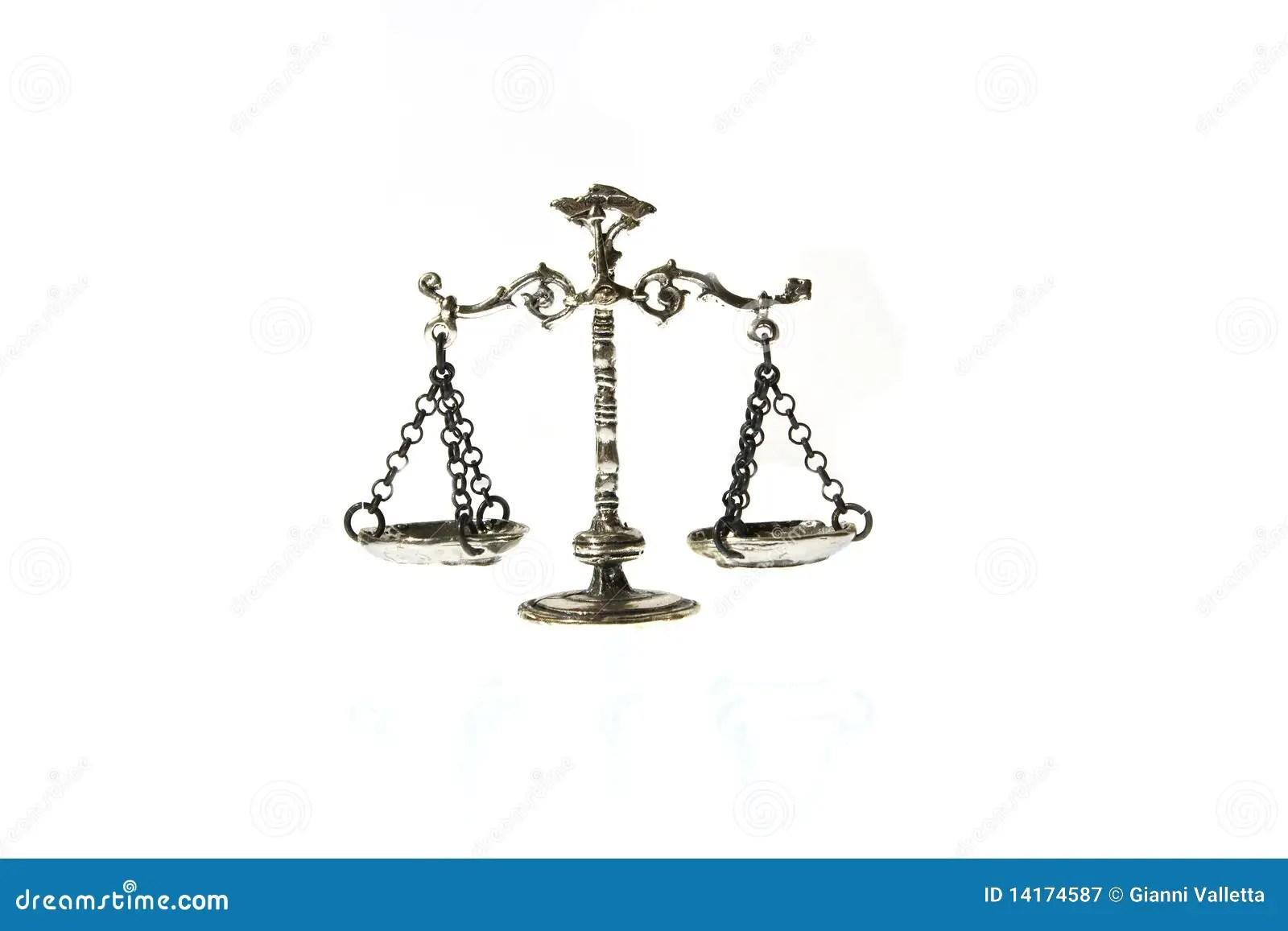 Vintage Scale Balance Over White Background Stock Image