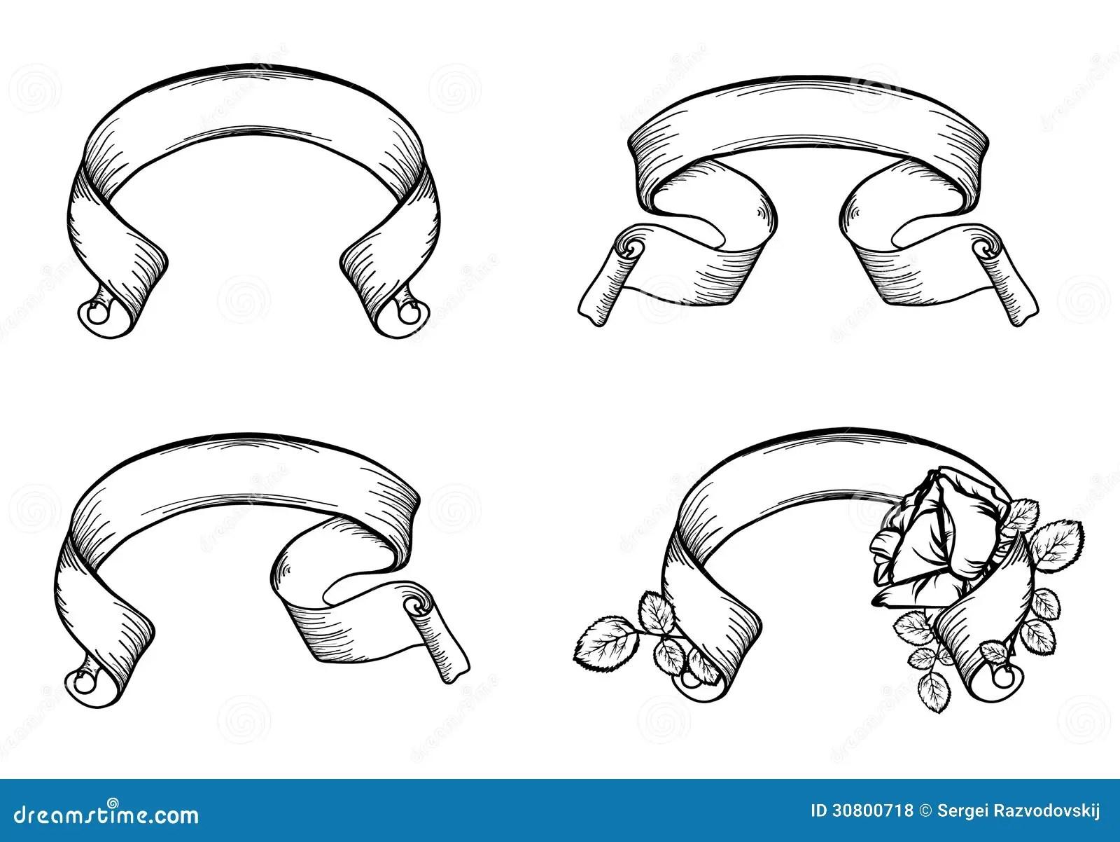 Vintage Scroll Ribbons Stock Vector Illustration Of