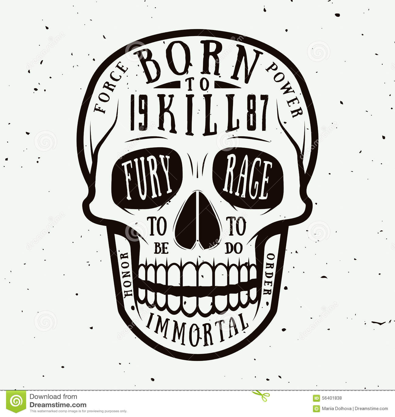 Vintage Skull Label Emblem And Logo Vector Illustration
