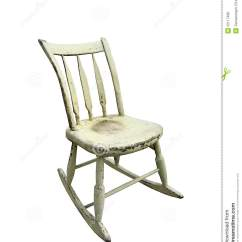 White Wood Rocking Chair With Footrest India Vintage Small Royalty Free Stock Photos