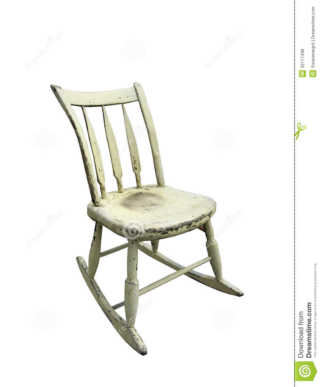 Small Rocking Chair Vintage Small Rocking Chair Royalty Free Stock Photos