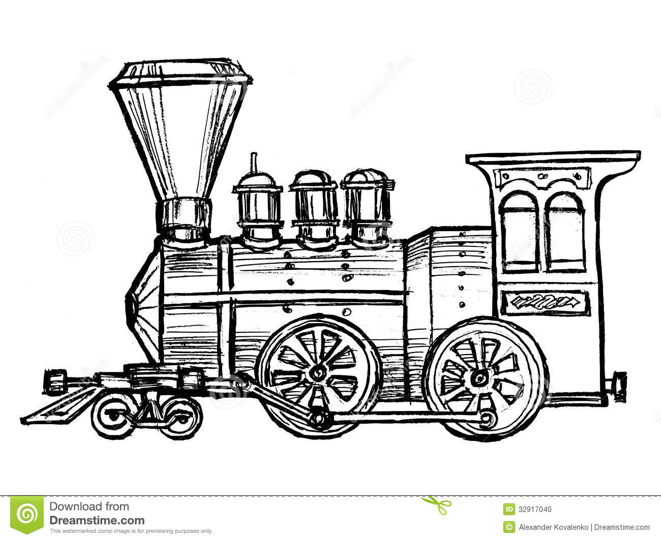 Vintage Steam Train Stock Vector Illustration Of Iron