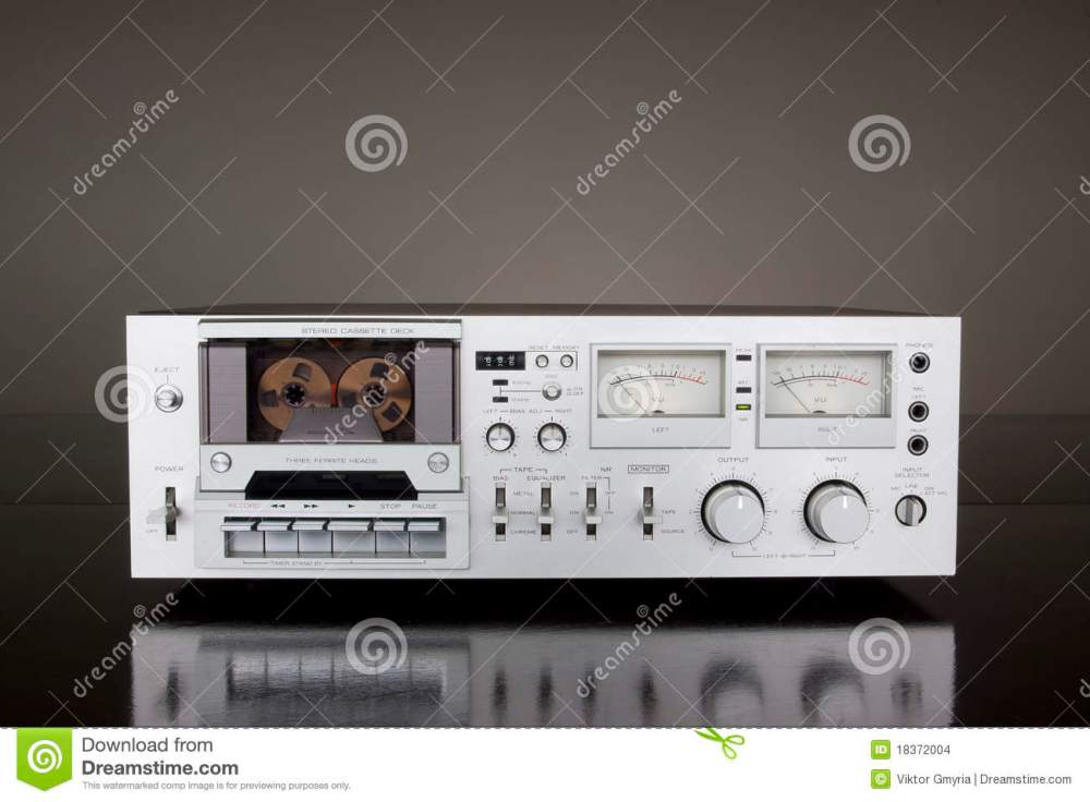 medium resolution of vintage stereo cassette tape deck recorder