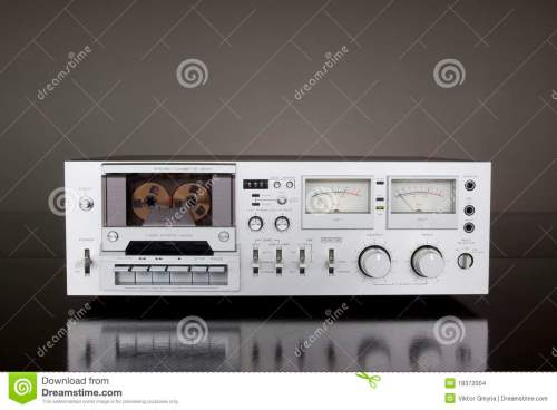 small resolution of vintage stereo cassette tape deck recorder