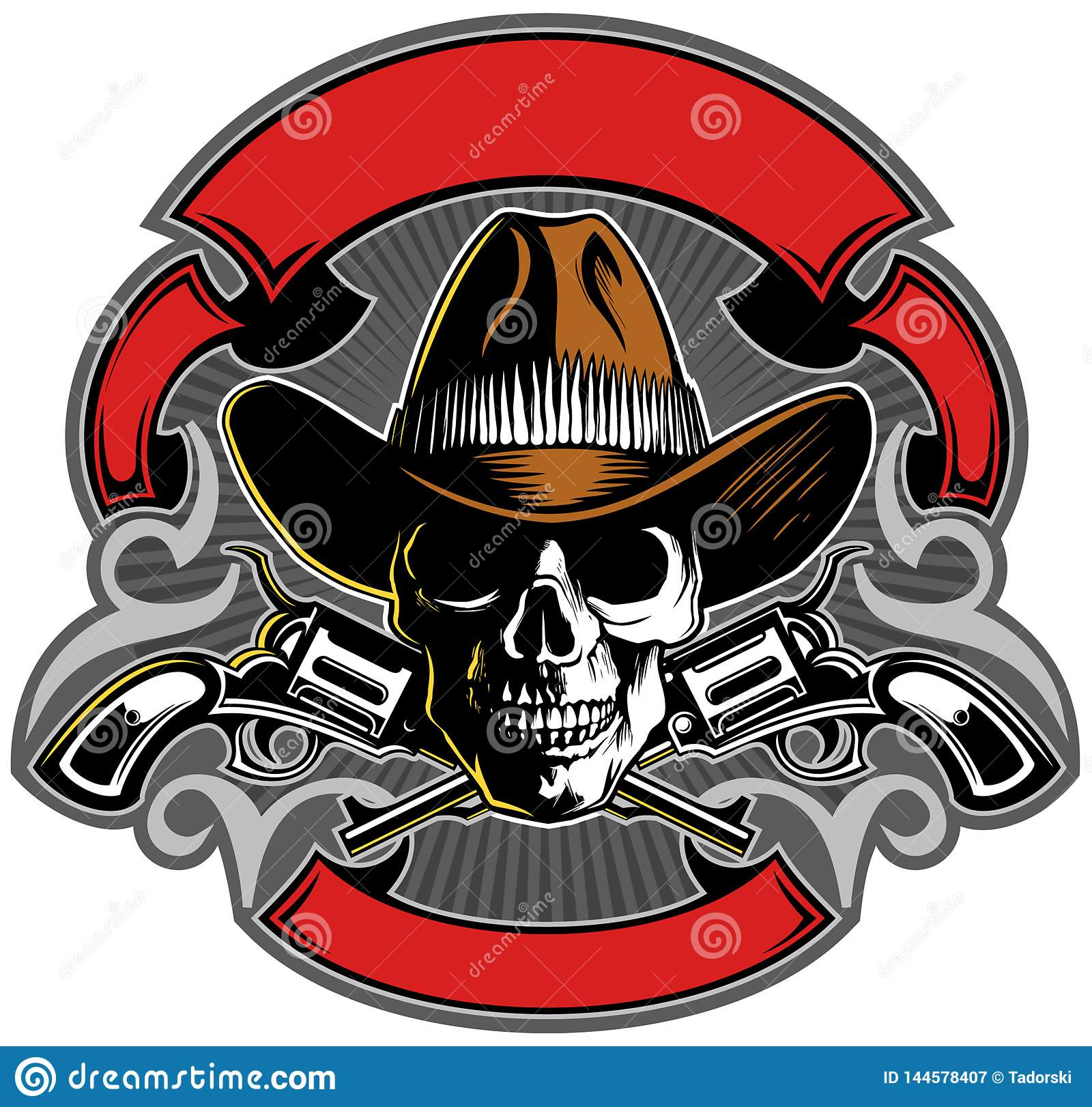 vintage style skull with