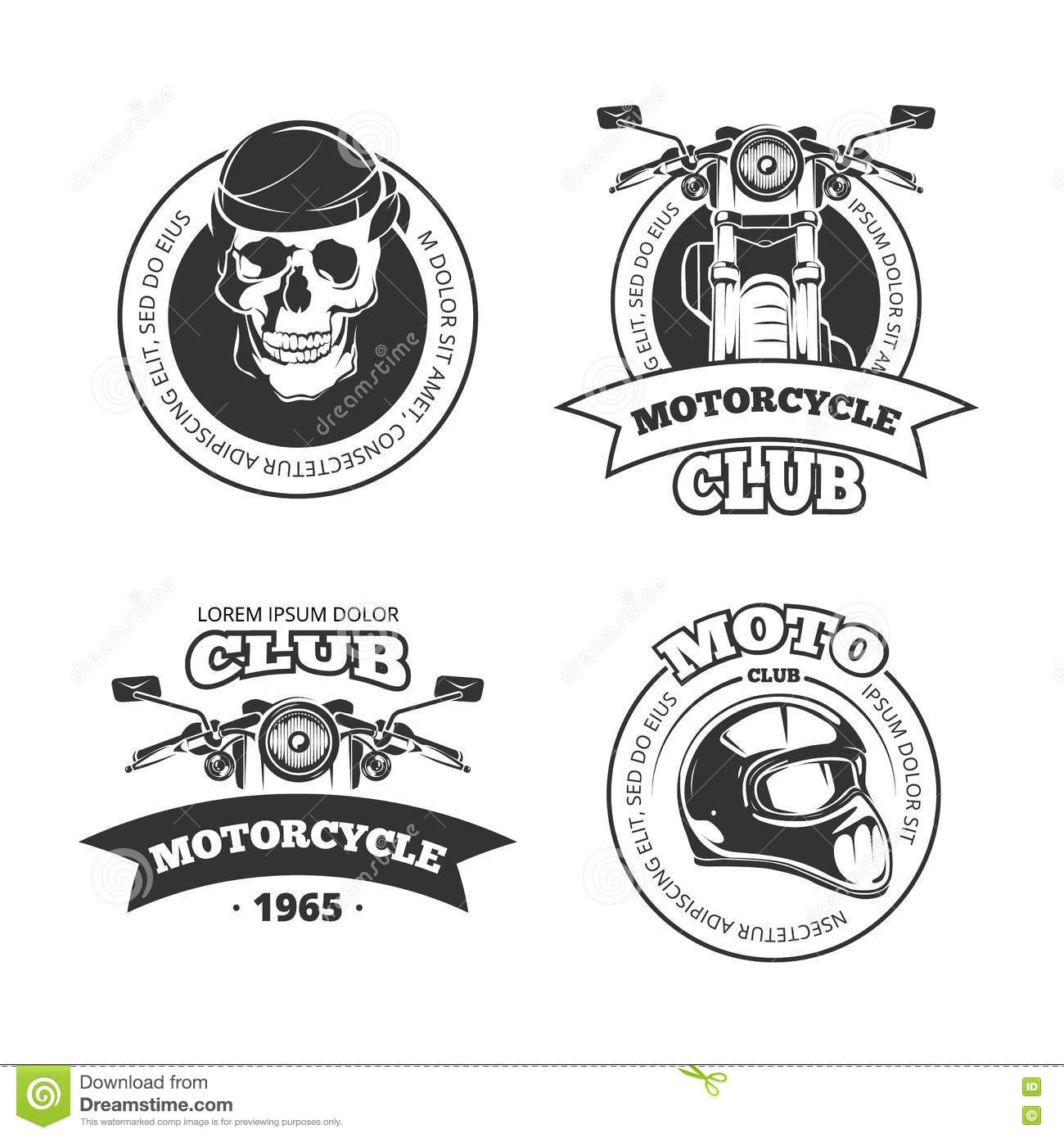Vector Motorcycle Sketch With Gothic Handwritten Lettering