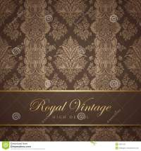 Vintage Wallpaper Design. Flourish Background. Flo Royalty