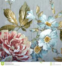 Vintage Wallpaper With Floral Pattern Stock Image - Image ...
