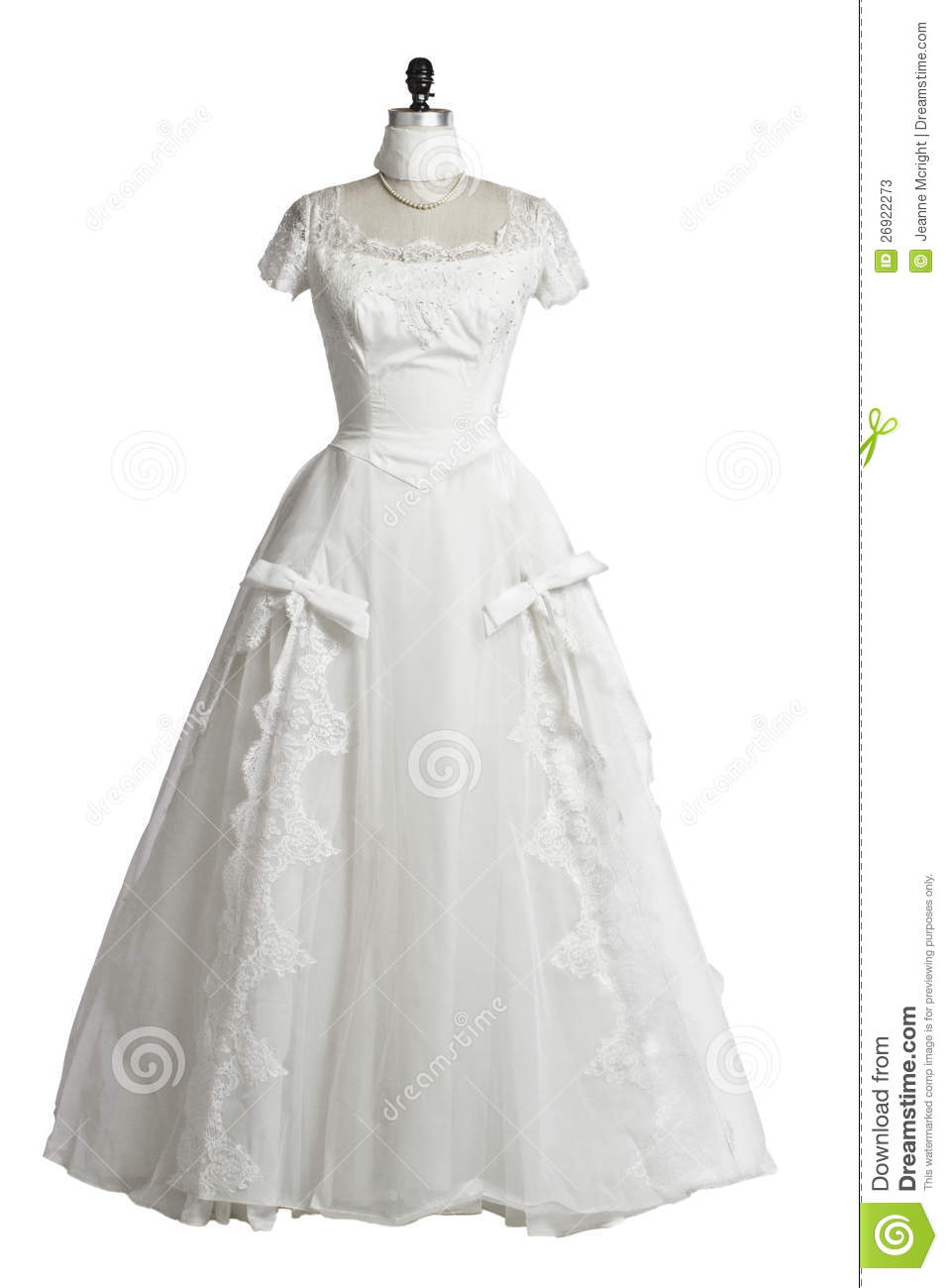 Vintage Wedding Dress 1950s Princess Style Stock Image