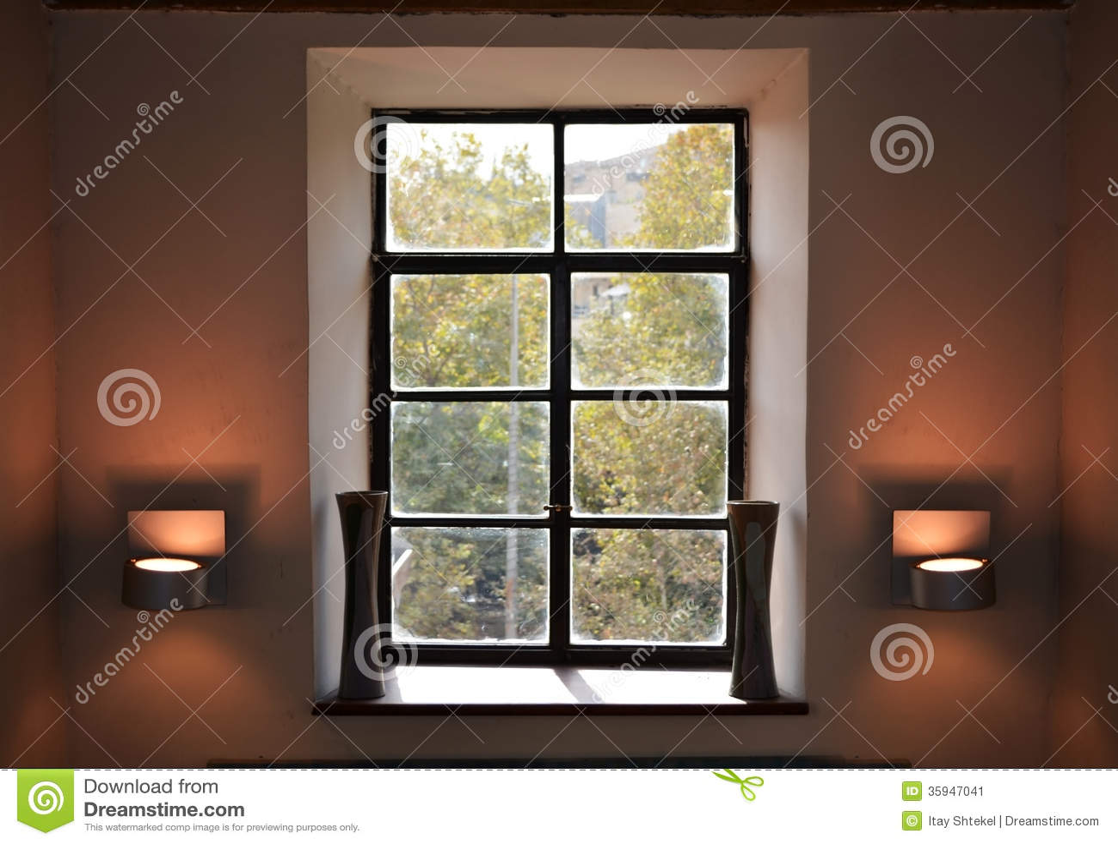 Vintage Window Interior Design Stock Image  Image of