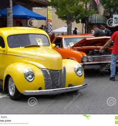 yellow ford 1940 and red chevrolet el camino 1967 the photo was taken at the sixth annual exhibition of classic vintage car in saratoga silicon valley  [ 1300 x 957 Pixel ]