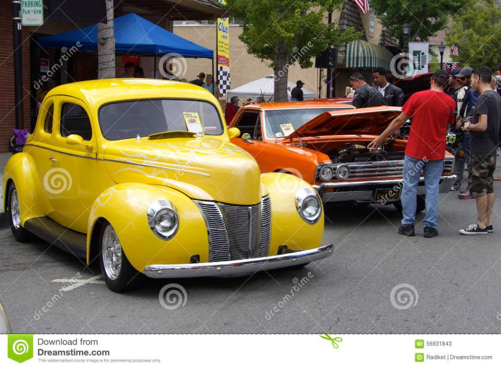 medium resolution of yellow ford 1940 and red chevrolet el camino 1967 the photo was taken at the sixth annual exhibition of classic vintage car in saratoga silicon valley