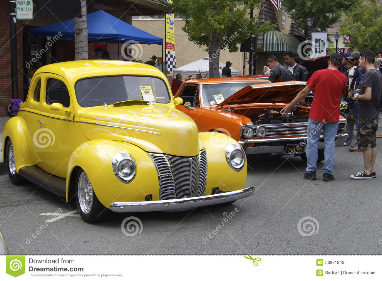 hight resolution of yellow ford 1940 and red chevrolet el camino 1967 the photo was taken at the sixth annual exhibition of classic vintage car in saratoga silicon valley