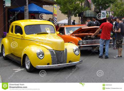 small resolution of yellow ford 1940 and red chevrolet el camino 1967 the photo was taken at the sixth annual exhibition of classic vintage car in saratoga silicon valley