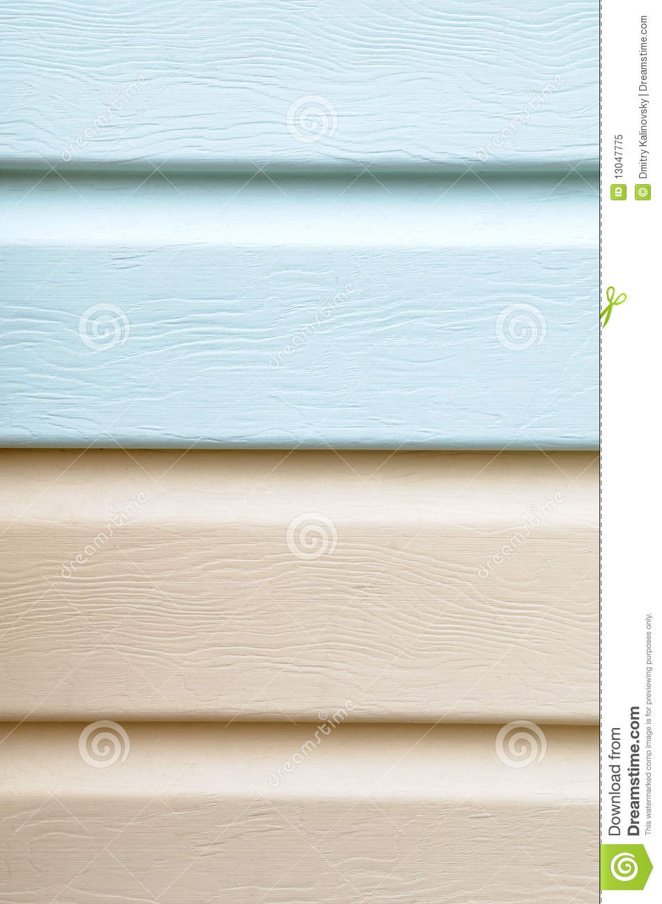 Vinyl Siding Material For Cladding Royalty Free Stock