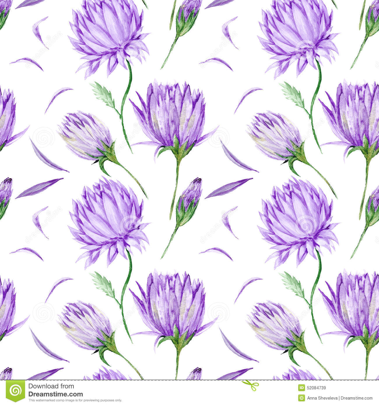 Violet Floral Pattern Stock Illustration