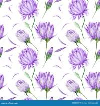 Violet Floral Pattern Stock Illustration - Image: 52084739