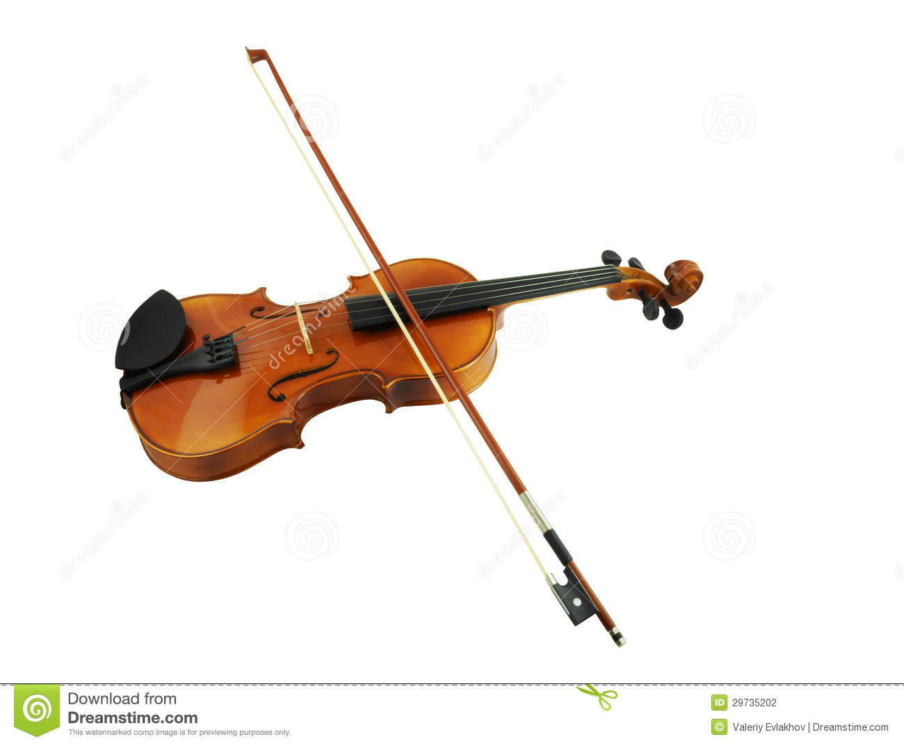 Violin And Bow Isolated Stock Photo Image Of Melody