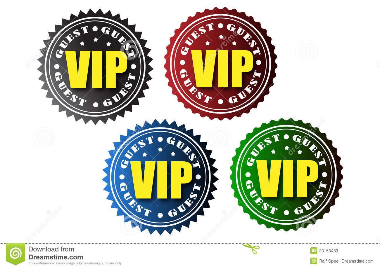 vip badges stock vector