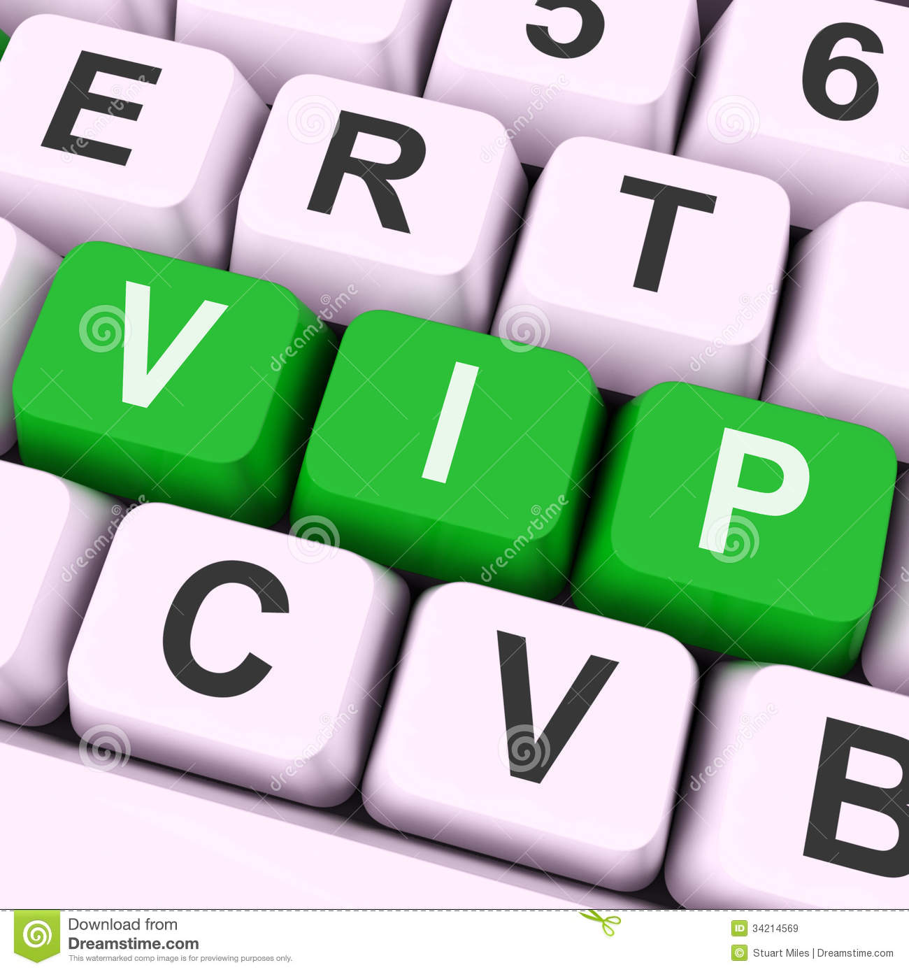Vip Key Means Dignitary Or Very Important Person Stock