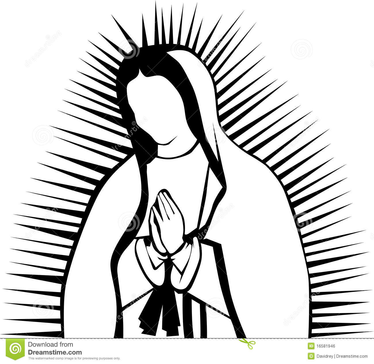 Virgin Of Guadalupe Stock Vector Illustration Of Clip