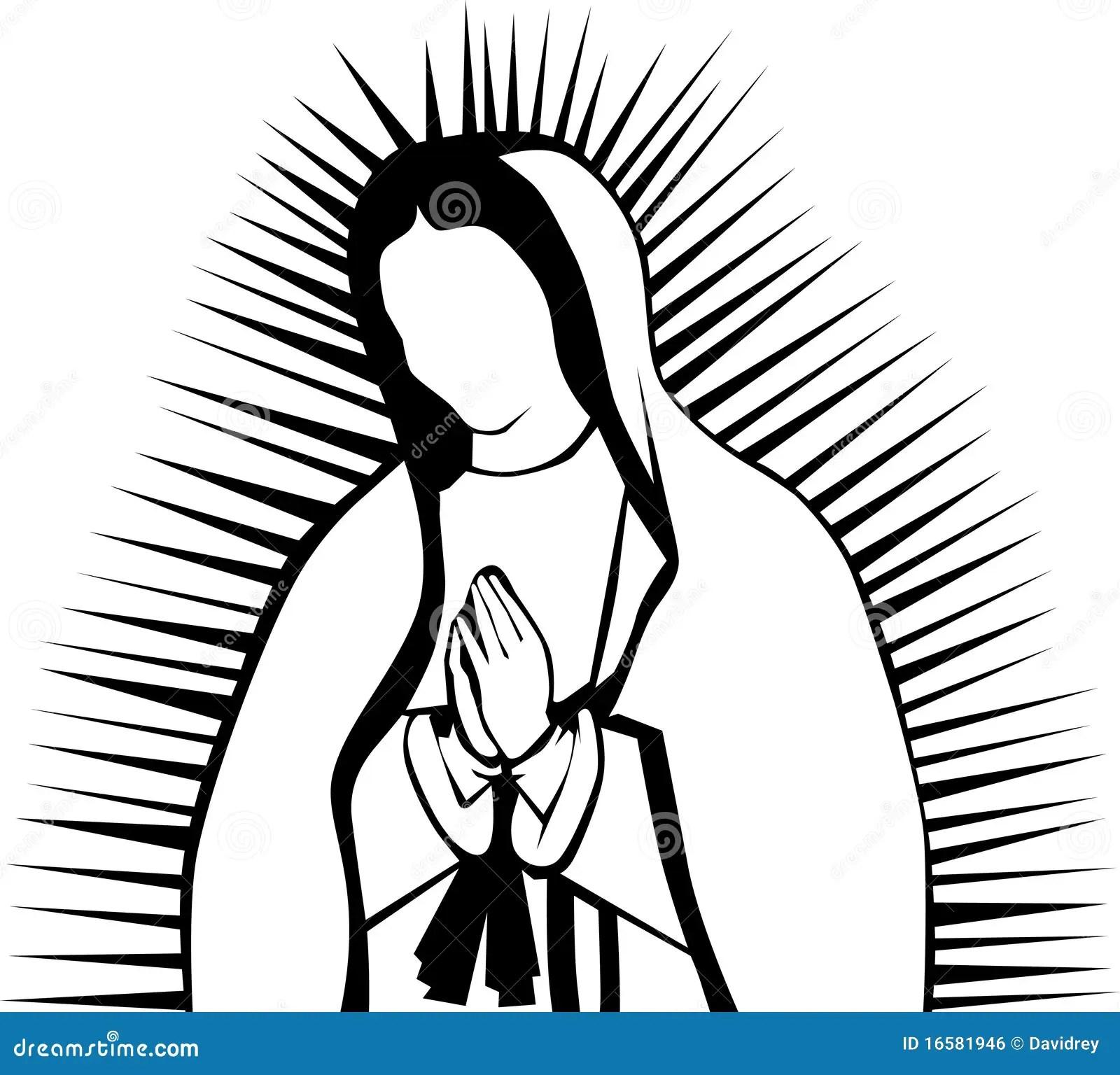 Virgin Of Guadalupe Stock Vector Illustration Of Virgin