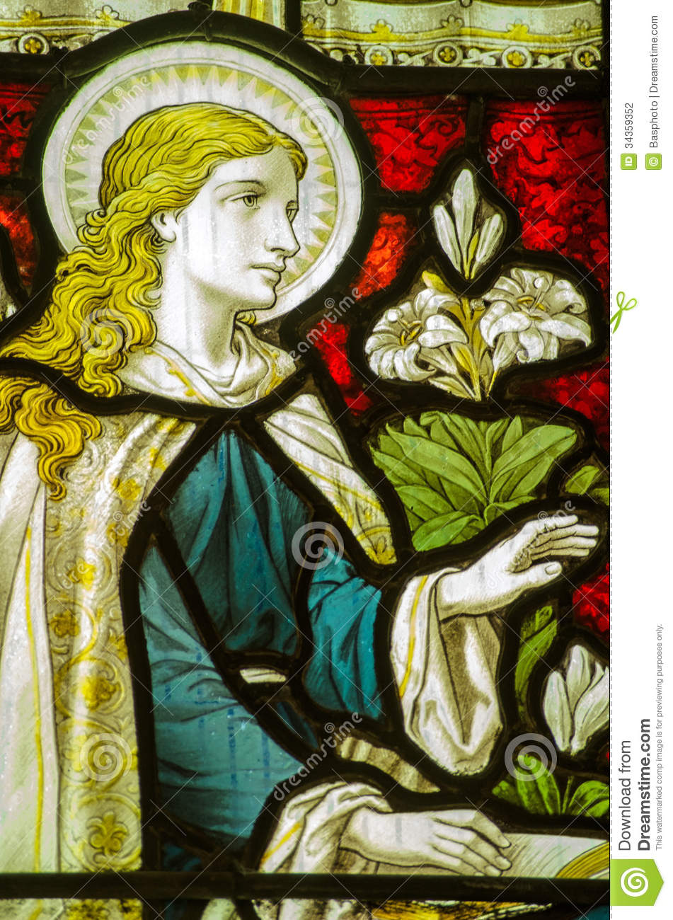 Virgin Mary Annunciation Window Stock Photography  Image 34359352