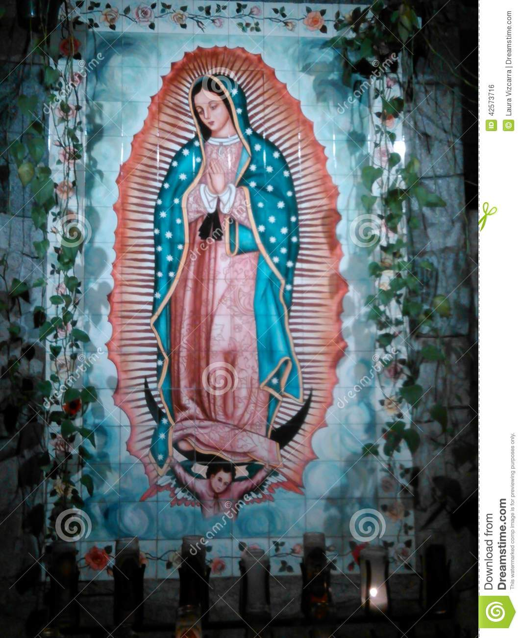 Virgin Mary Editorial Photo Image Of Tile Guadalupe