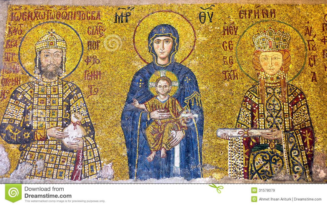 Virgin Mary Holding The Christ Child Royalty Free Stock Images
