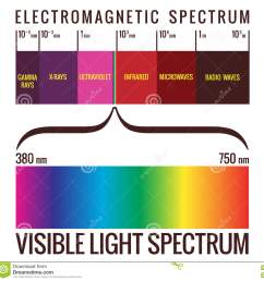 range of visible light within the electromagnetic spectrum  [ 1300 x 1307 Pixel ]