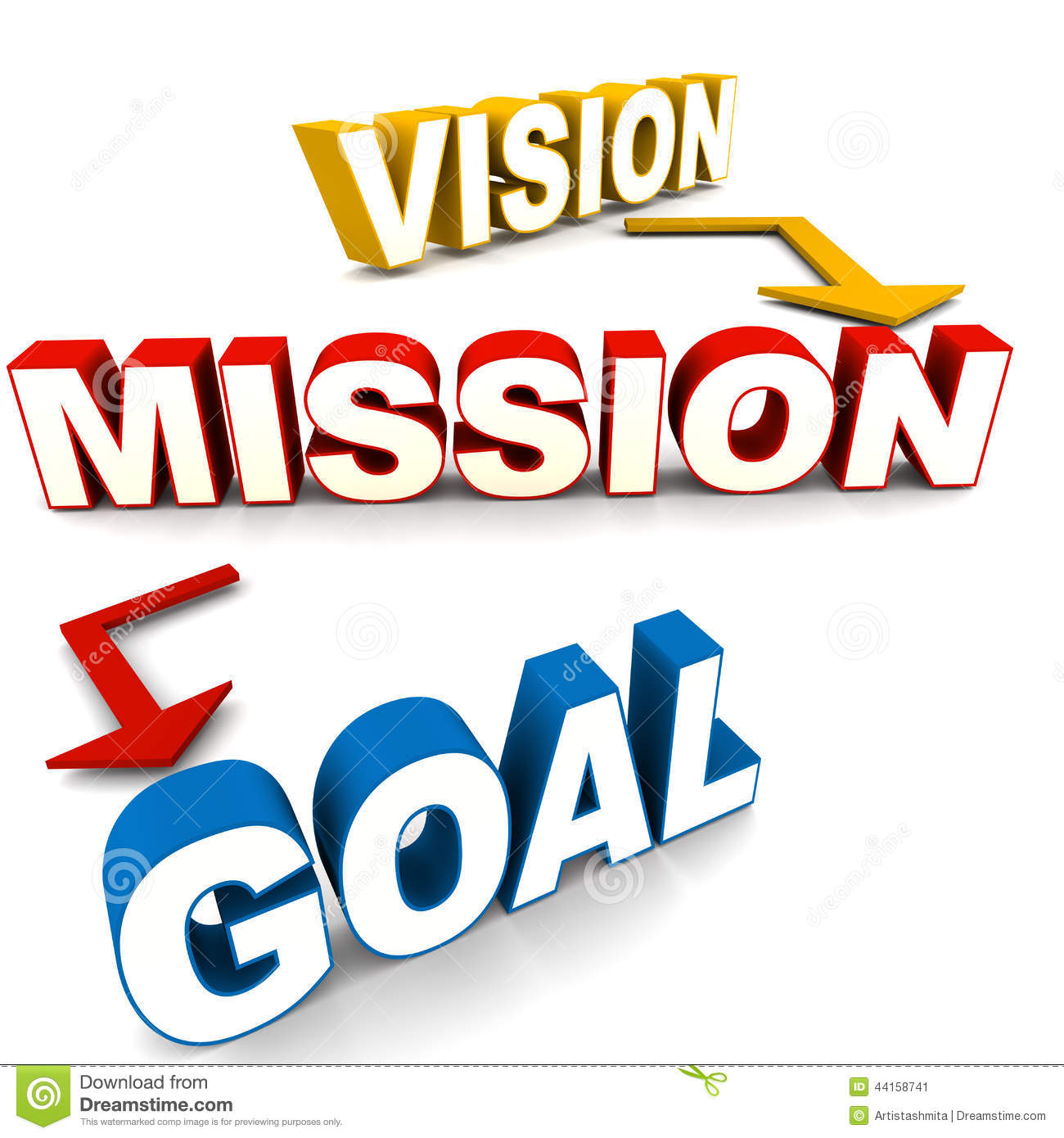 Vision Mission Goal Stock Illustration Illustration Of