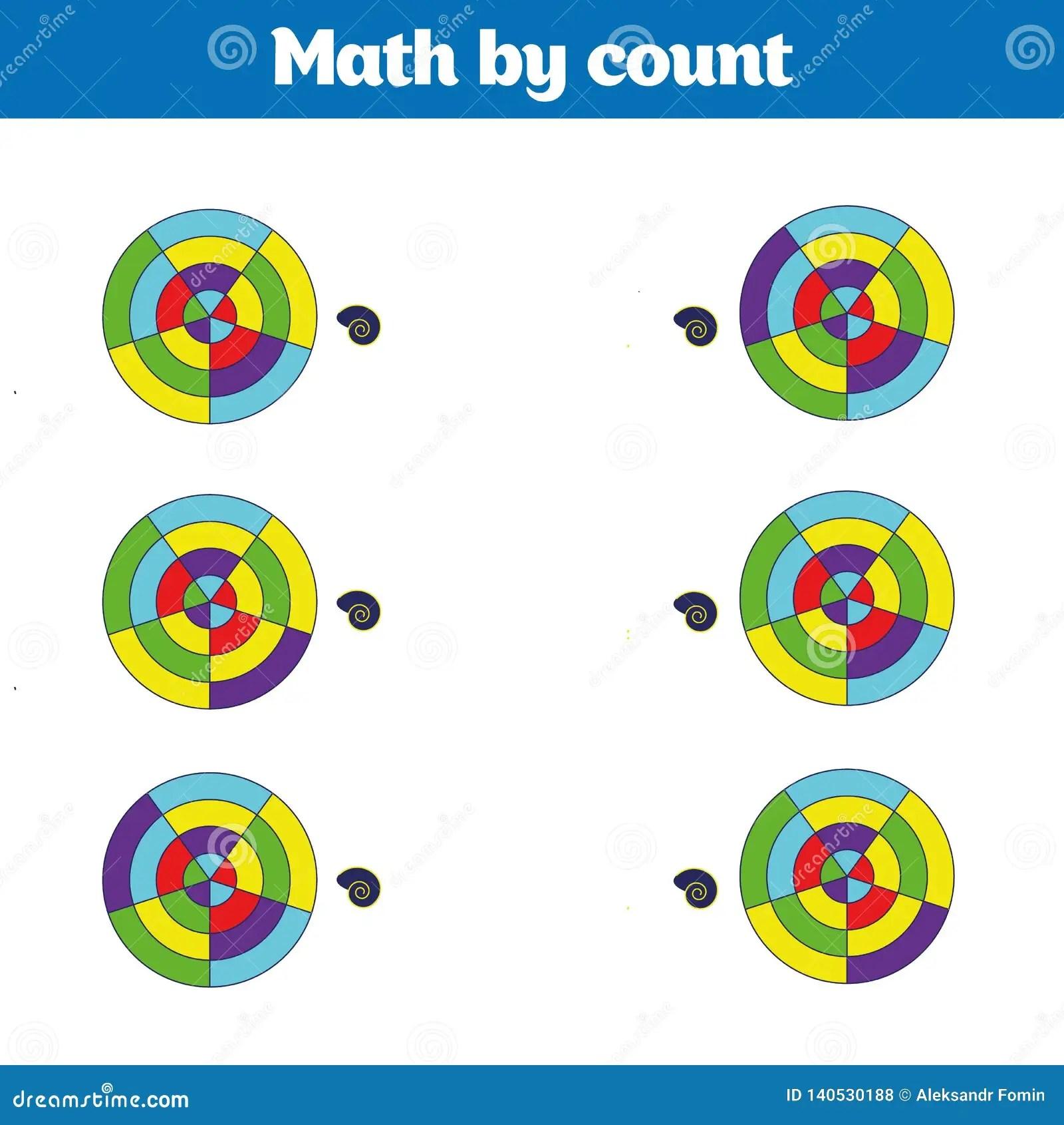 Visual Educational Game For Children Worksheet For