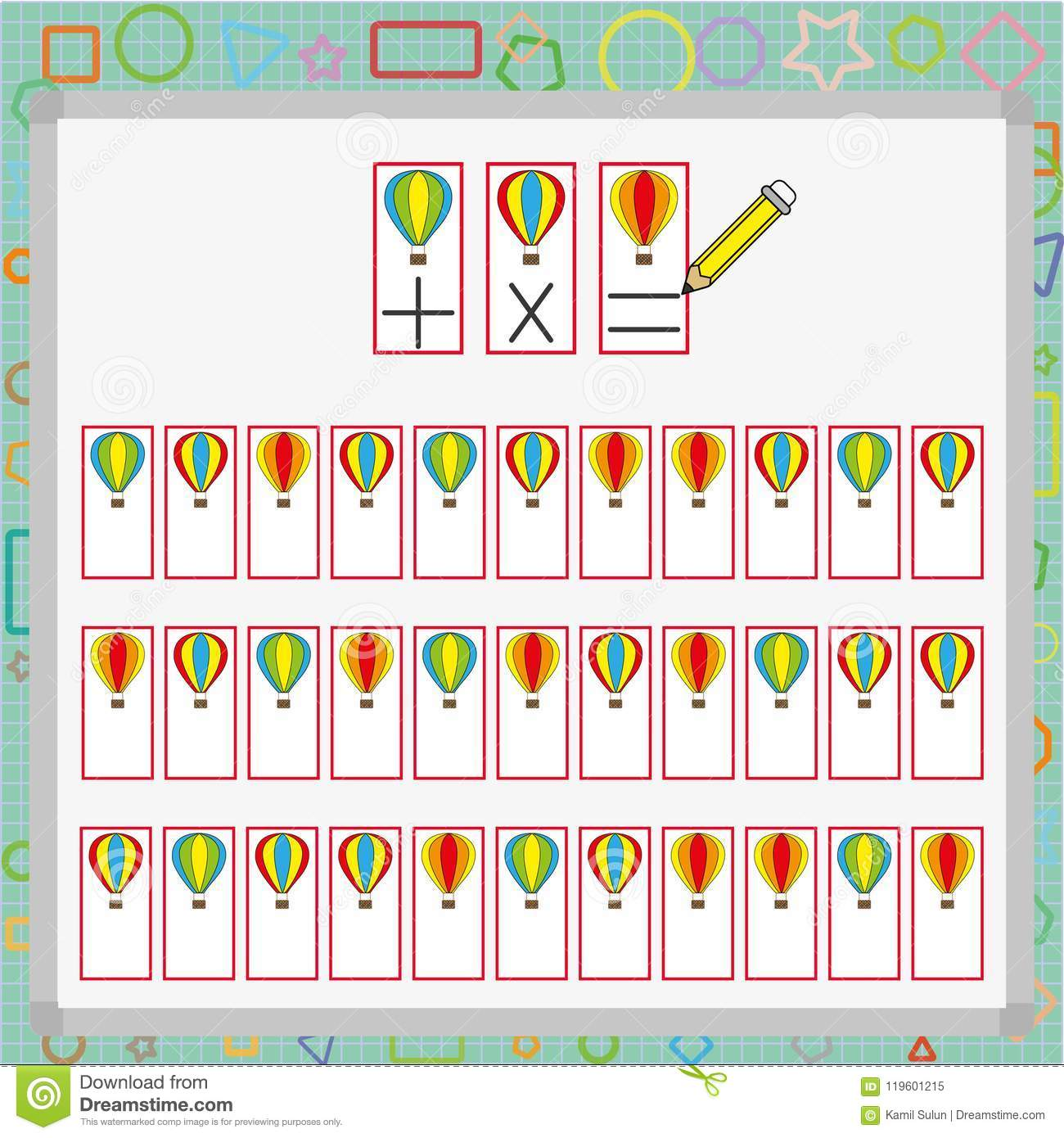 Visual Perception Game Perception Game For Child Attention Development Work For Students Stock