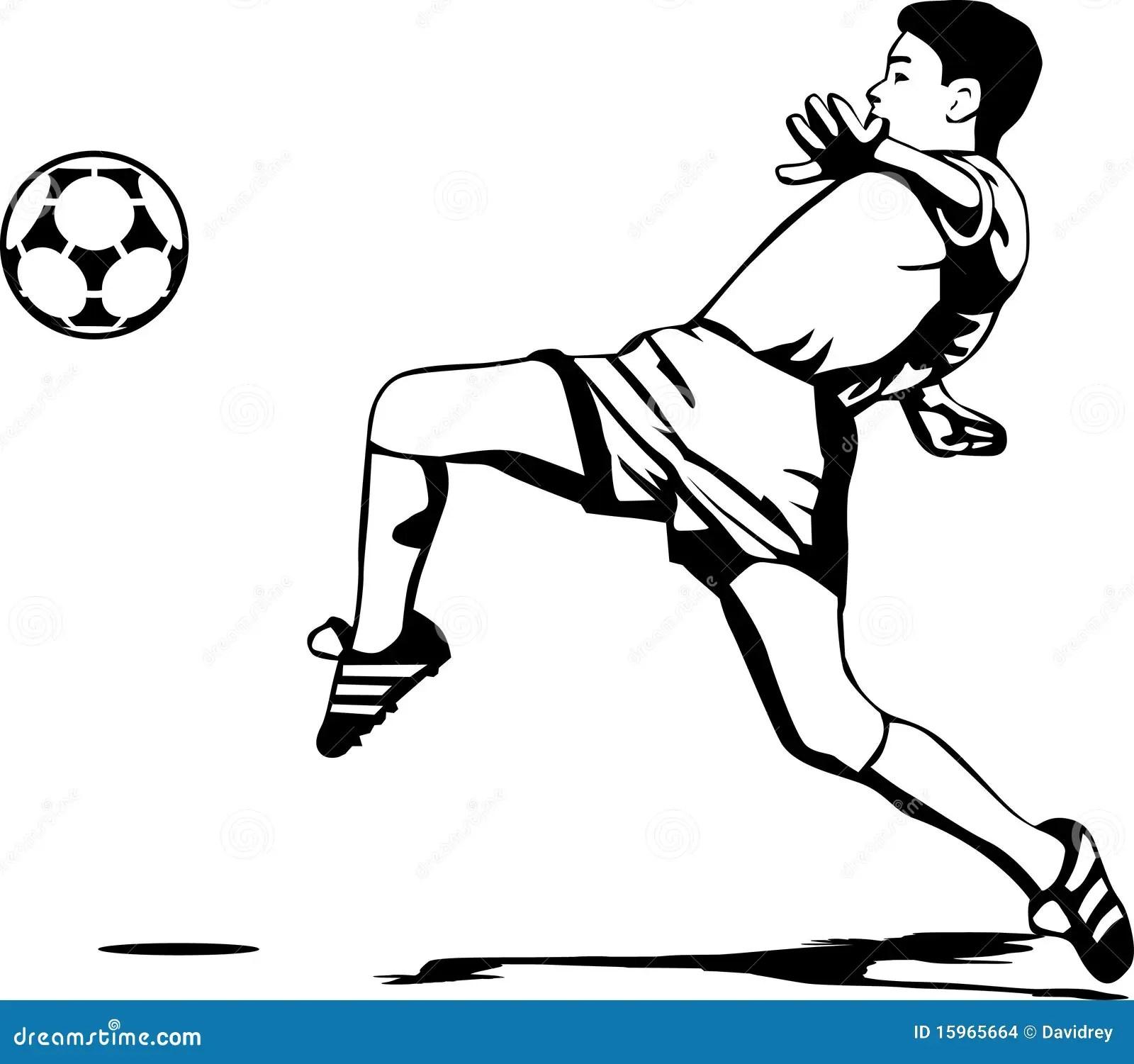 Voetballer Vector Illustratie Illustratie Bestaande Uit