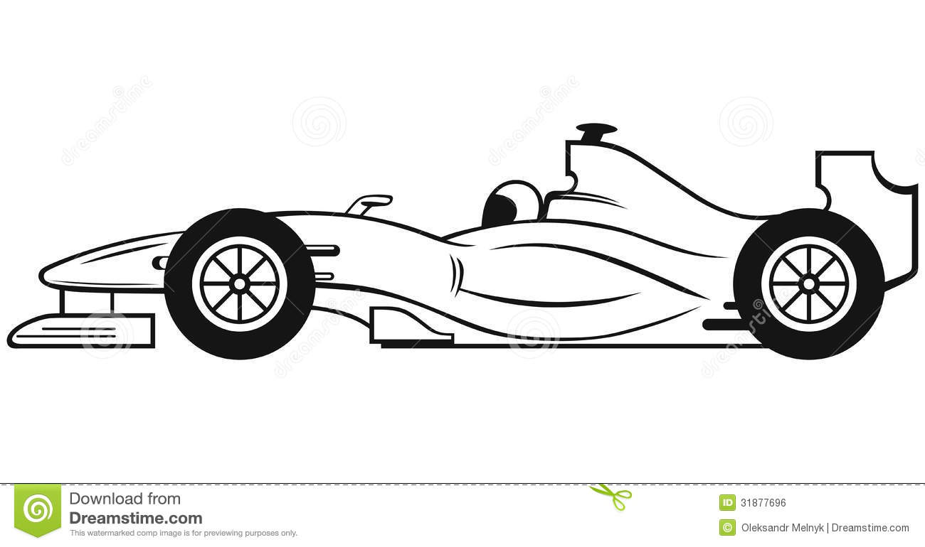 Voiture De Course De La Formule 1 Illustration De Vecteur