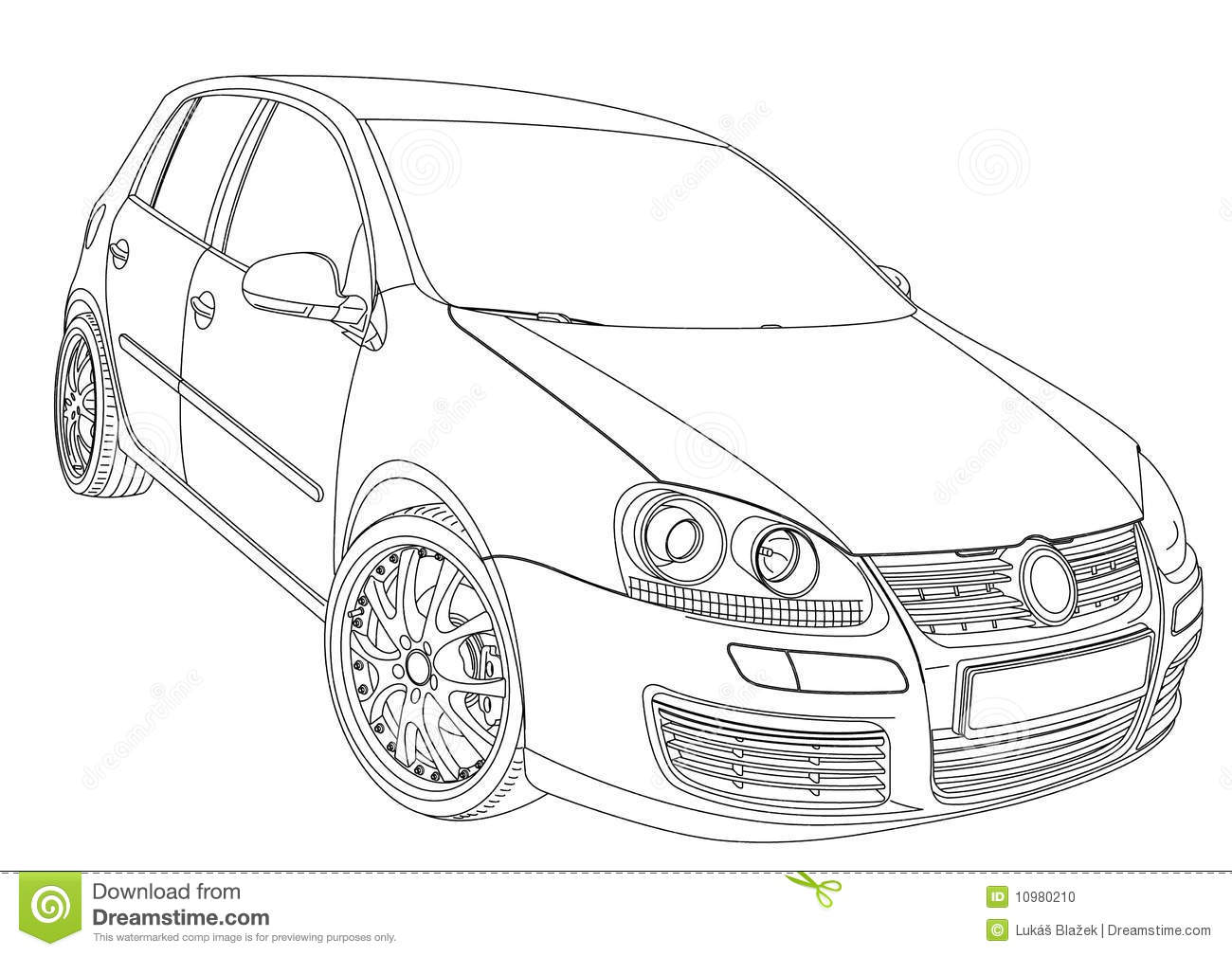 Volkswagen Golf 5 stock vector. Illustration of limusine