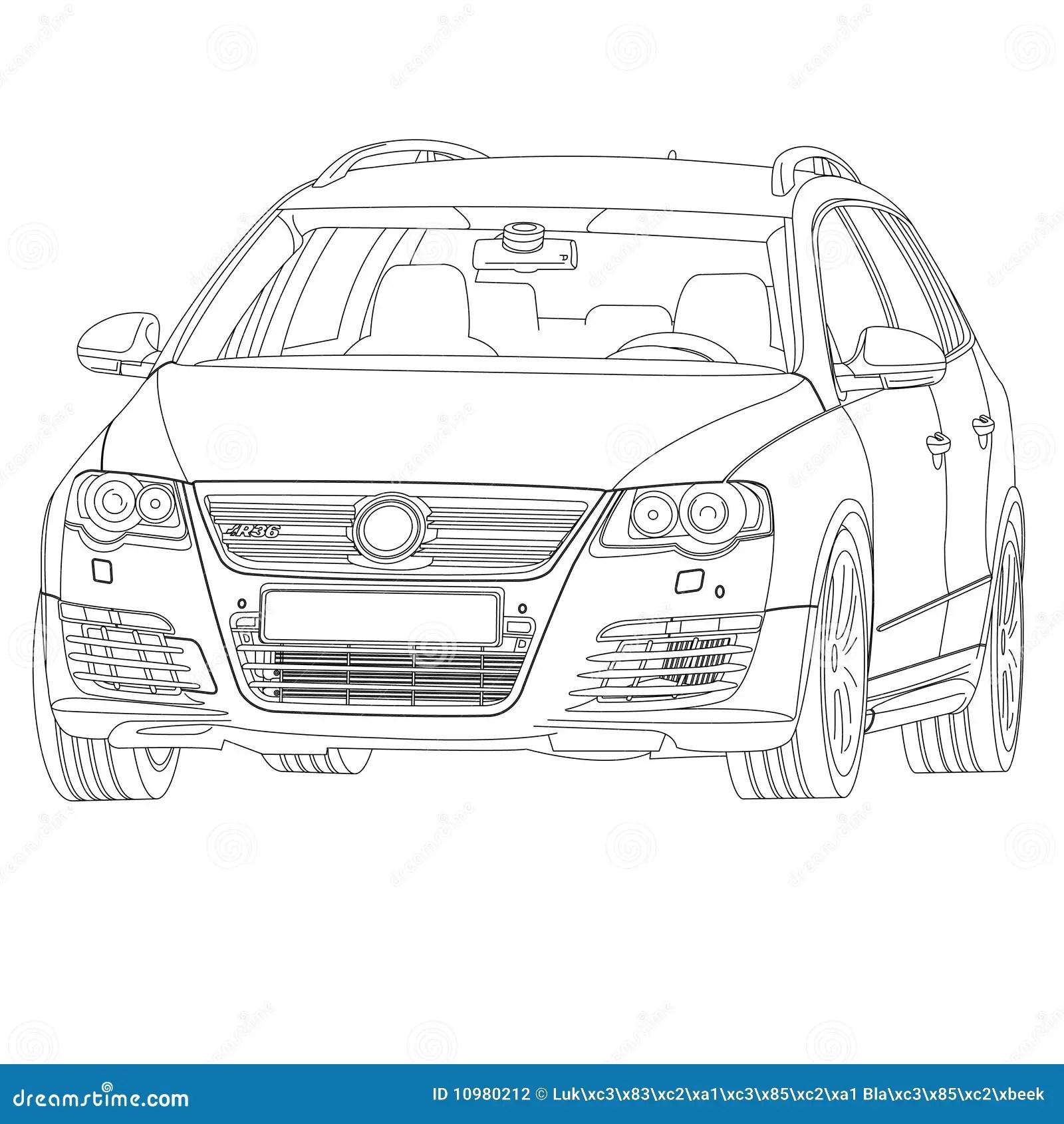 Volkswagen R36 illustrazione vettoriale. Illustrazione di