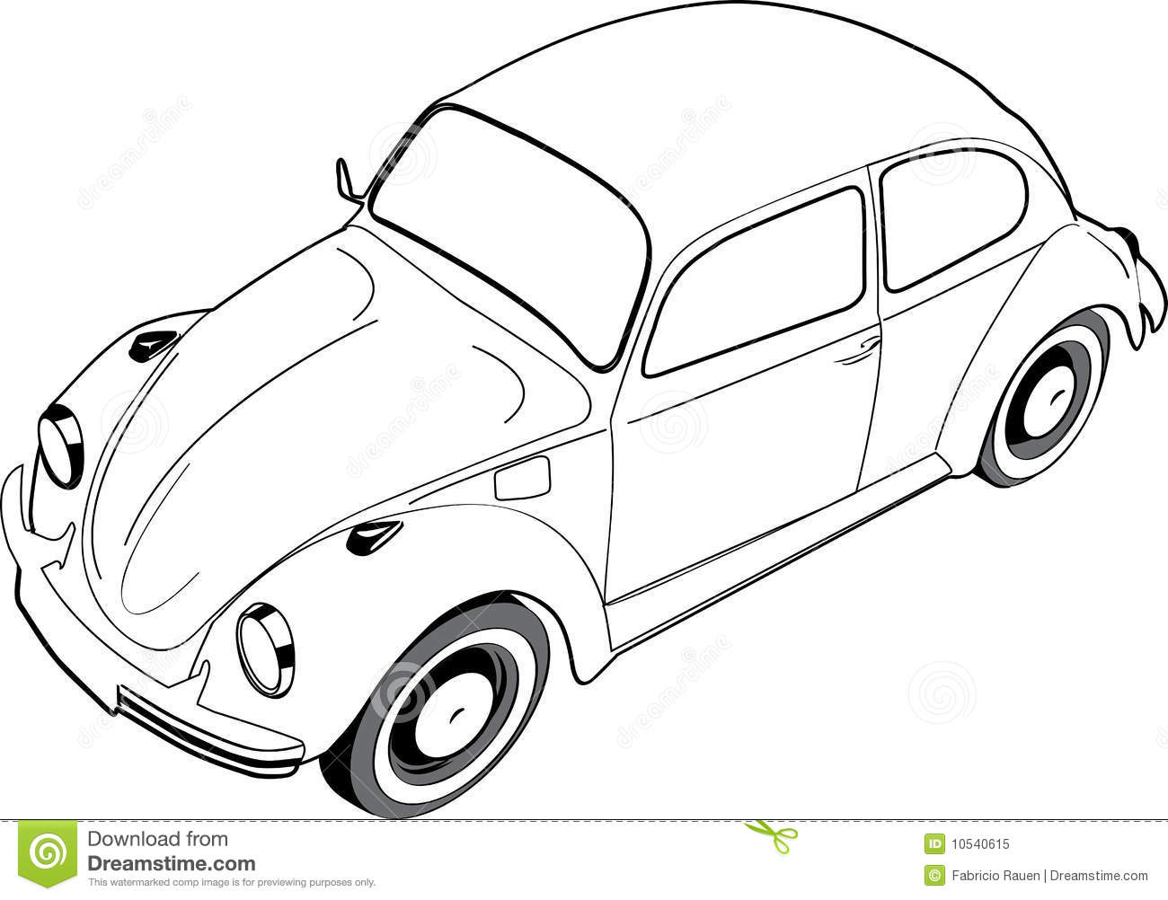 Volkswagon Beetle Or Bug Royalty Free Stock Photo