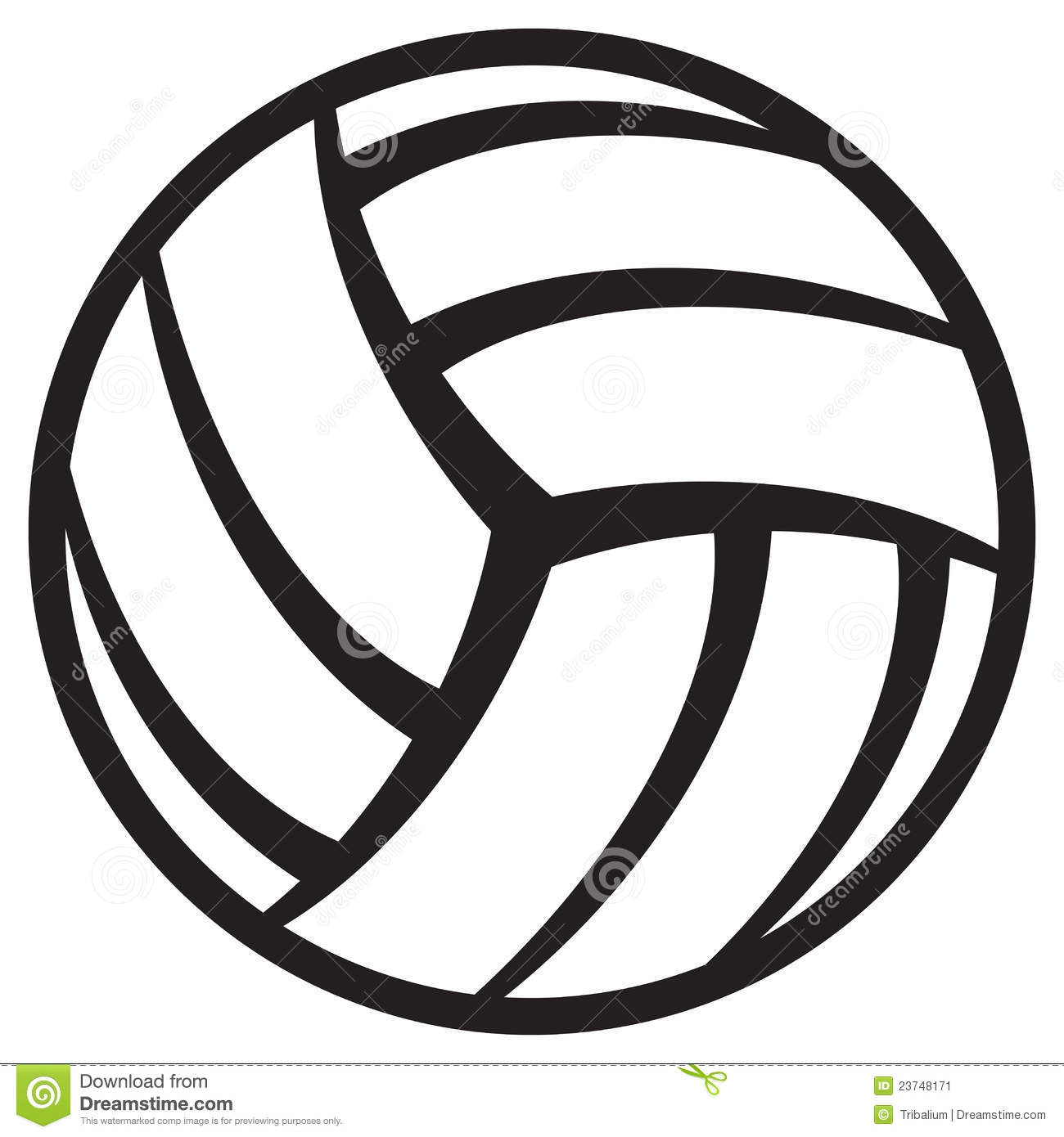 Volleyball Ball Stock Vector Illustration Of Object