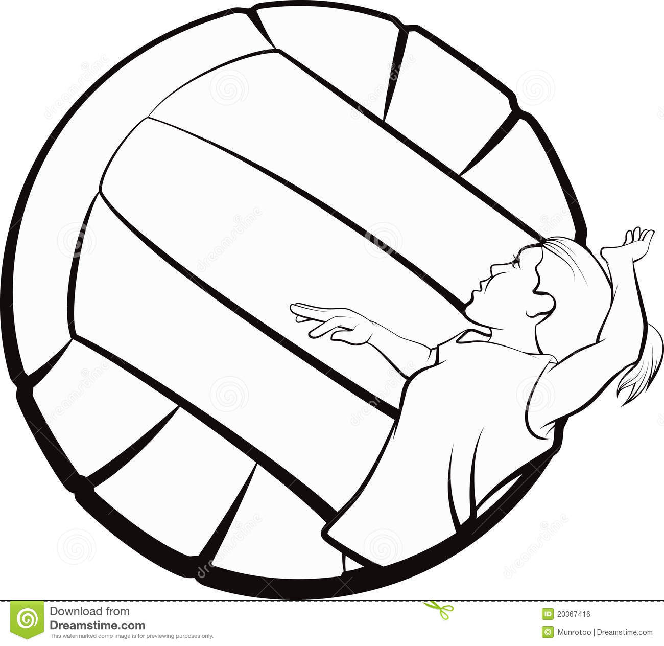 Volleyball Girl Stock Vector Illustration Of Student