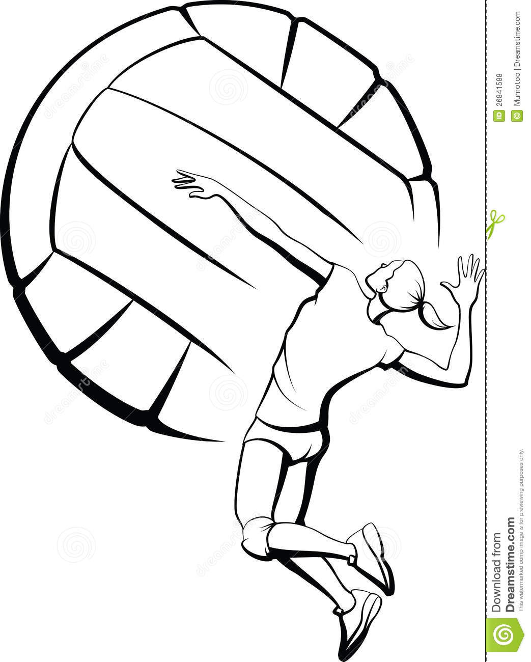 Volleyball Girl Spiking Royalty Free Stock Photos