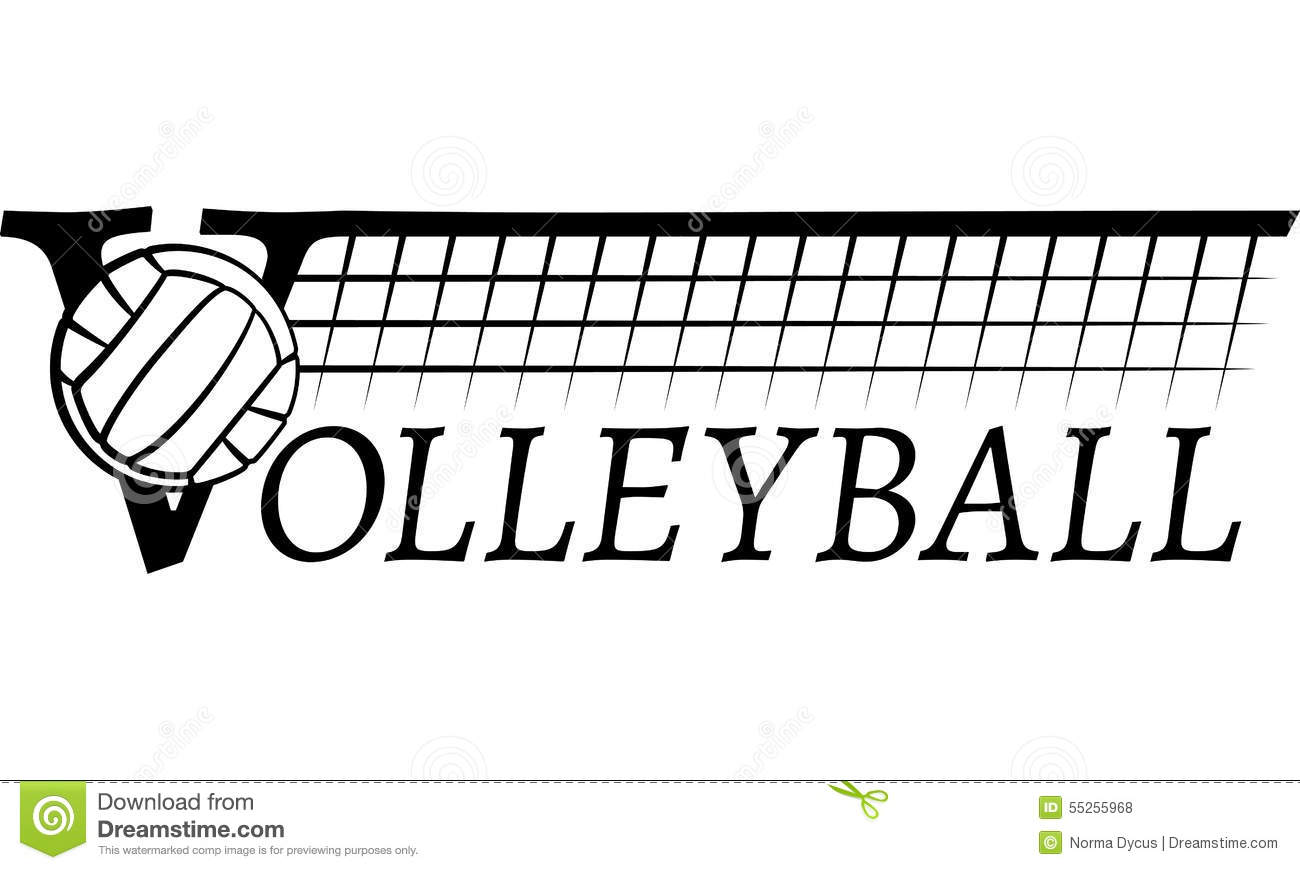 Volleyball Net With Text stock vector. Illustration of