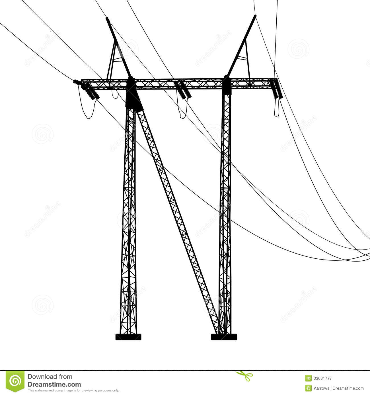 Voltage Power Lines Stock Vector Illustration Of Line
