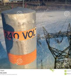 240 volts pole pylon double exposure [ 1300 x 957 Pixel ]