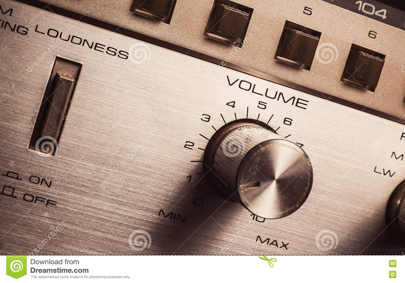 Volume And Loudness Control Stock Photo