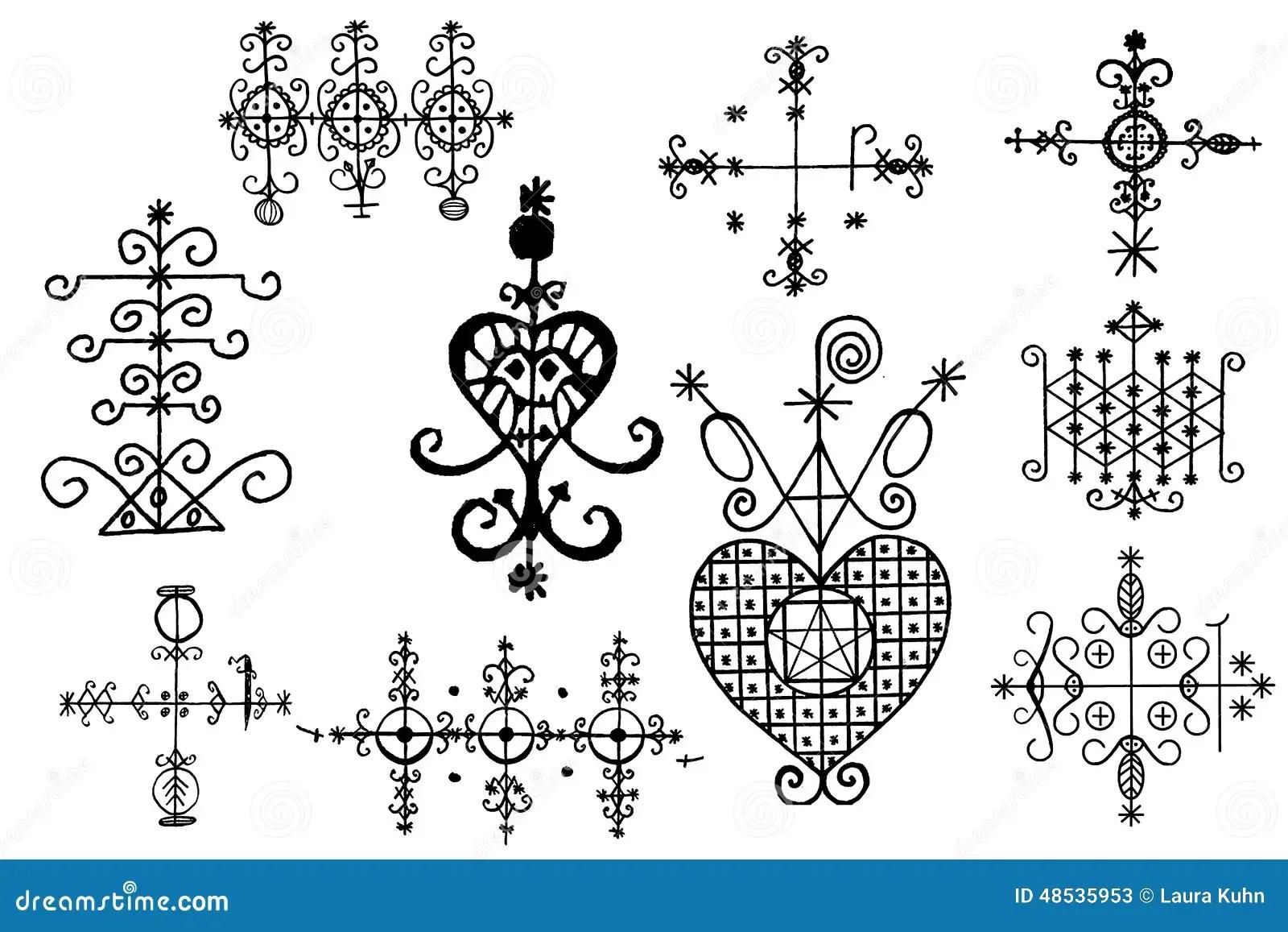 Voodoo Spirit Symbols Stock Image Image Of Landmark